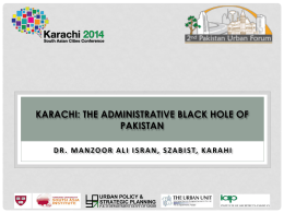 Karachi- The Administrative Black Hole of Pakistan