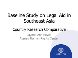 A Baseline Study on Legal Aid in Southeast Asia