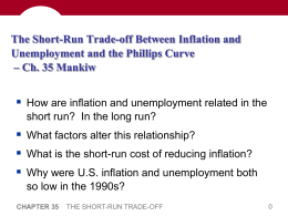 The Short-Run Trade-off Between Inflation and Unemployment and