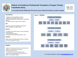 Patients` and Healthcare Professionals` Perceptions of Oxygen