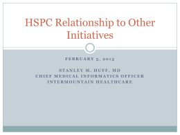 HSPC Relationship to other Initiatives 150205