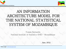 an information architecture model for the national statistical system