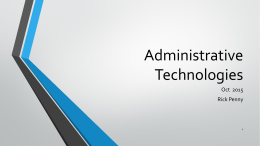 Administrative Technologies - Lakeland Community College