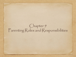 Chapter 9 Parenting Roles and Responsibilities