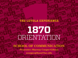 School of Communication - Loyola University Chicago