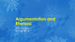 Argumentation and Rhetoric