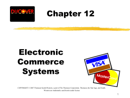 Chapter 12 - Accounting and Information Systems Department