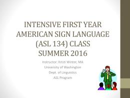 ASL 134 Unit 3.3 2016