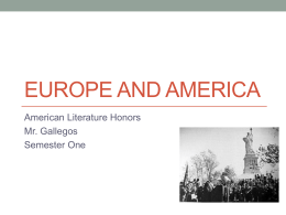 Europe and america - ALHS American Literature