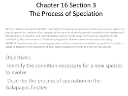 Chapter 16 Section 3 The Process of Speciation