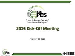 2016 PES Chapter Kickoff