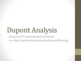 Slides on Dupont Analysis