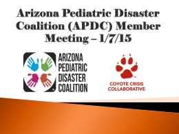 National Pediatric Disaster Coalition Conference November 2