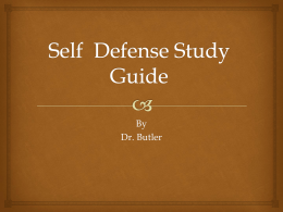Self Defense Study