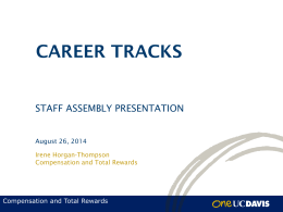 View the Career Tracks PowerPoint