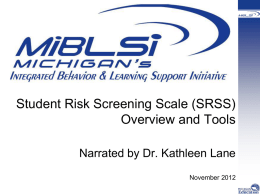 SRSS Overview and Tools