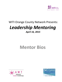 Mentor bios Packet - Women in Technology International