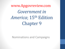 Government in America, Chapter 9
