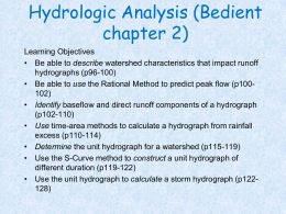 Hydrologic analysis