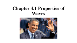 Chapter 4.1 Properties of Waves