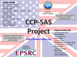 Project Acknowledgement Slide - CCP-SAS