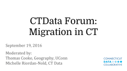 CTData Forum: Migration in CT - Connecticut Data Collaborative