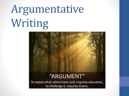 Argumentative Essay PowerPoint File