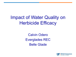 Impact of Water Quality on Herbicide Efficacy