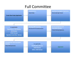 Workflow Diagram New Study Full Committee