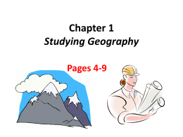 Ch 1 Geography power point notes