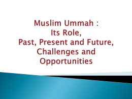 Challenges Faced by Muslim Ummah