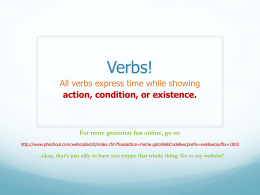 Verbs! - Marblehead High School