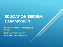 Education reform commission