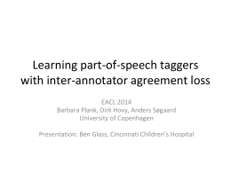 Learning part-of-speech taggers with inter