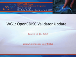 Workgroup1-OpenCDISC..