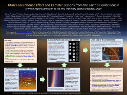 Titan*s Greenhouse Effect and Climate: Lessons from the Earth*s