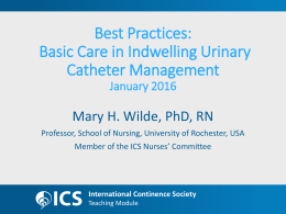 Best Practices Indwelling catheters Jan.14.16