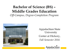 Orientation Presentation - Distance Education | Appalachian State