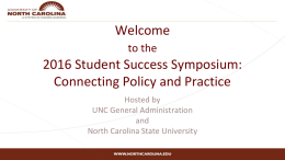 the 2016 Student Success Symposium