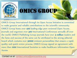 shazia jamshed - OMICS International