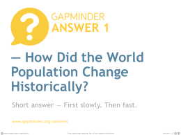 How Did the World Population Change Historically?