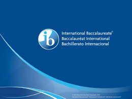 On-screen examination - International Baccalaureate