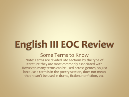 English III EOC Review - Collierville High School