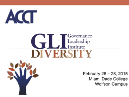 ACCT Governance Leadership Institute on Diversity