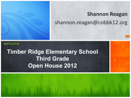 OpenHouse 2012 - Timber Ridge Elementary