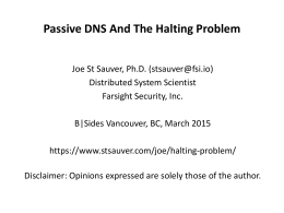 Passive DNS And The Halting Problem