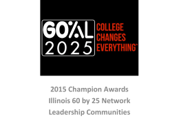 2015 College Changes Everything Champion Awards Presentation