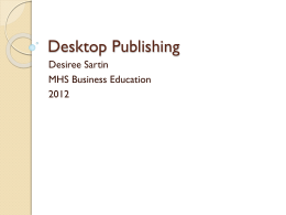 Desktop Publishing - dsartin