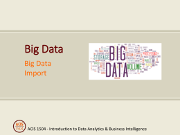 Big Data lecture slides