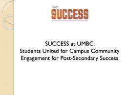 success: umbc - Maryland Transitioning Youth